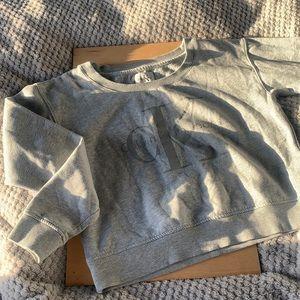 Calvin Klein grey crop jumper size small